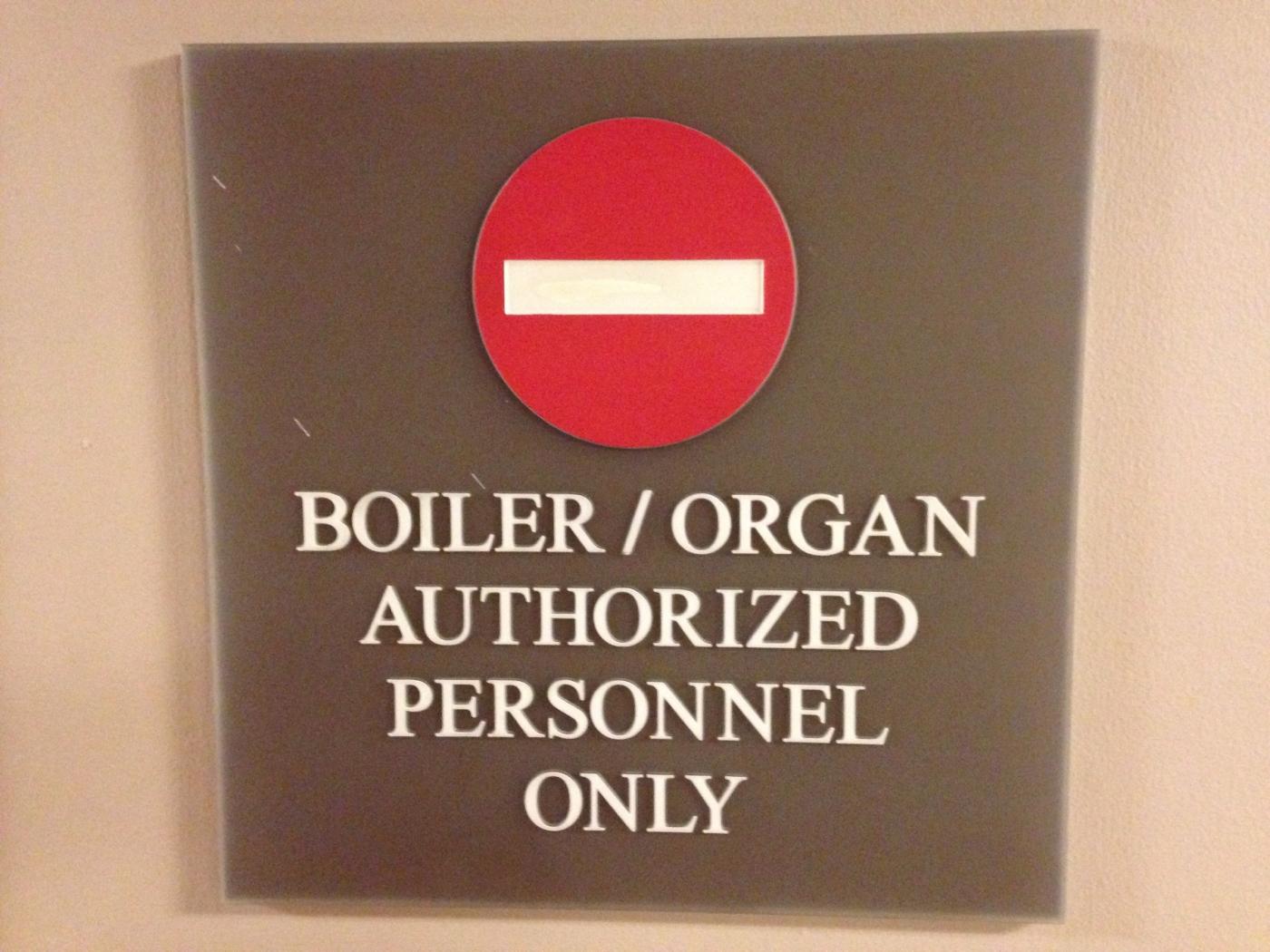 Boiler/organ combo!