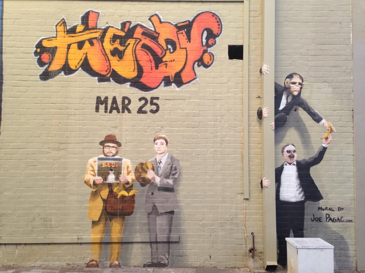 Scary Rialto Theatre Mural